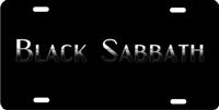 Black Sabbath novelty license plate custom car tag