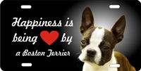 Boston Terrier license plate