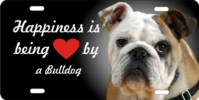 Bulldog personalized novelty front license plate decorative vanity aluminum car tag