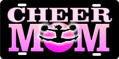 Cheer Mom personalized novelty front license plate decorative vanity aluminum car tag