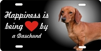 Dachshund brown personalized novelty Front license plate Decorative vanity car tag