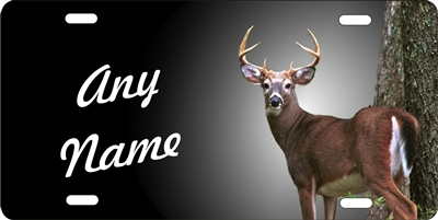 Deer Hunter personalized novelty Front license plate Decorative Vanity aluminum car tag