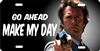 Dirty Harry Go ahead make my day personalized novelty front license plate Decorative Vanity car tag