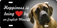 English Mastiff personalized novelty front license plate Decorative Vanity Dog car tag