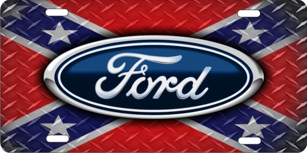 Personalized Novelty License Plate Ford On Confederate