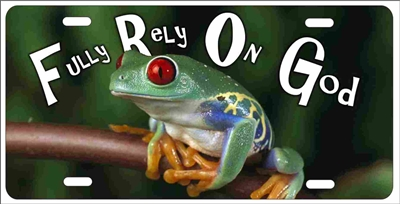 FROG Fully Rely On God personalized novelty front license plate Decorative Vanity car tag