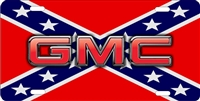 GMC on rebel flag personalized novelty front license plate decorative vanity car tag
