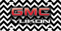 GMC Yukon on chevron personalized novelty front license plate Decorative vanity car tag