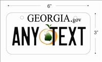 Georgia state Mini License Plate for Bicycles, Bikes, Wheelchairs, Golf Carts personalized for you. can also be used as a door sign.