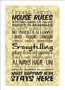 Nana and Papa's House Rules aluminum sign