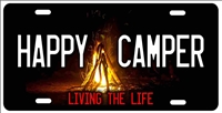Happy Camper personalized novelty front license plate Decorative vanity car tag