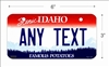 Idaho state Mini License Plate for Bicycles, Bikes, Wheelchairs, Golf Carts personalized for you. can also be used as a door sign.