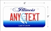 Illinois state Mini License Plate for Bicycles, Bikes, Wheelchairs, Golf Carts personalized for you. can also be used as a door sign.