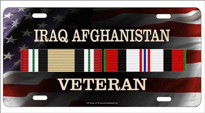Iraq Afghanistan Campaign veteran personalized novelty license plate
