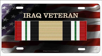 Iraq Campaign veteran personalized novelty license plate