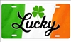 Lucky shamrock Ireland Flag novelty license plate decorative vanity aluminum sign