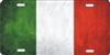 personalized Italian flag license plate