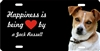 Jack Russell personalized novelty front license plate Decorative vanity car tag