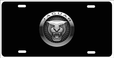 Jaguar growler on black Custom License Plates, Personalized License Plates, Decorative License Plates, Front License Plates, Car Tags, airbrush