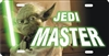 Jedi Master personalized novelty license plate Yoda