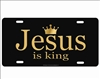 Jesus is king novelty license plate decorative vanity aluminum sign