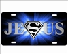 Jesus Superman novelty front license plate Decorative Vanity Car Tag