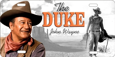 John Wayne the duke personalized novelty license plate Decorative vanity front car tag