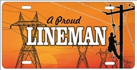 A Proud Lineman personalized novelty front license plate Decorative car tag
