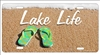 Lake Life custom car tag