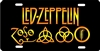 Led Zeppelin custom novelty front plate car tag