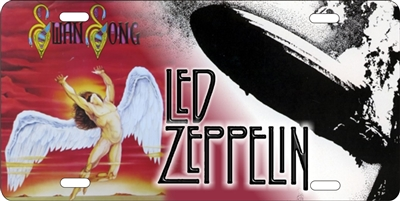 Led Zeppelin Swan Song custom car tag