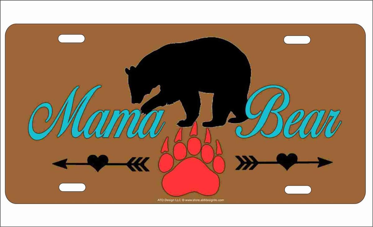 Chicago Bears Mama Bear License Plate