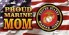 proud Marine Mom American flag custom Military car tags Custom License Plates, Personalized License Plates, Decorative License Plates, Front License Plates, Car Tags, airbrush