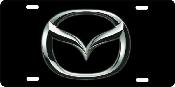 Mazda logo on black background personalized novelty license plate (NOT 3D) & personalized novelty license plate Mazda logo Custom License Plates ...