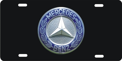Mercedes Benz button logo Custom License Plates, Personalized License Plates, Decorative License Plates, Front License Plates, Car Tags, airbrush