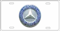 Mercedes Benz button logo on white background Custom License Plates, Personalized License Plates, Decorative License Plates, Front License Plates, Car Tags, airbrush