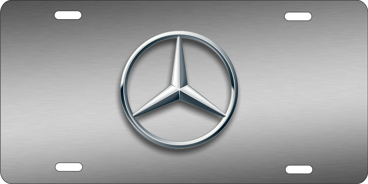 Personalized novelty license plate mercedes benz logo for Mercedes benz tag