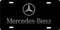 Mercedes Benz logo Custom License Plates, Personalized License Plates, Decorative License Plates, Front License Plates, Car Tags, airbrush