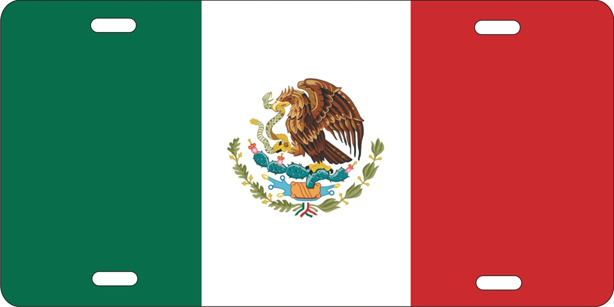 Mexican Flag personalized novelty license plate  sc 1 st  ATD design LLC store : decorative licence plates - pezcame.com