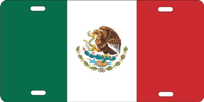 Mexican Flag custom car tag Custom License Plates, Personalized License Plates, Decorative License Plates, Front License Plates, Car Tags, airbrush