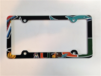 Miami sport teams License Plate Frame Decorative License Plate Holder