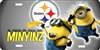 Minyinz Pittsburgh minions personalized novelty front license plate Decorative Car Tag Custom License Plates, Personalized License Plates, Decorative License Plates, Front License Plates, Car Tags, airbrush