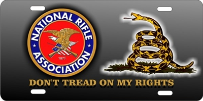 personalized novelty license plate NRA DON'T TREAD ON Me