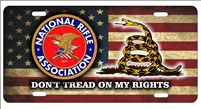 novelty license plate NRA DON'T TREAD ON My rights