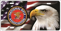 NRA Bald Eagle personalized novelty Front license plate Decorative Vanity Car Tag