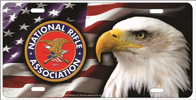 NRA Bald Head Eagle personalized novelty Front license plate Decorative Vanity Car Tag