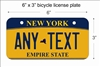 New York empire state Mini License Plate for Bicycles