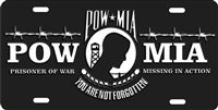 POW MIA custom car tag Custom License Plates, Personalized License Plates, Decorative License Plates, Front License Plates, Car Tags, airbrush