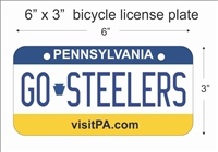 Pennsylvania state Mini License Plate for Bicycles, Bikes, Wheelchairs, Golf Carts personalized for you. can also be used as a door sign.