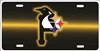 Pittsburgh sport teams combined logo Black and gold Background license plate